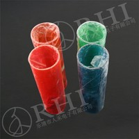 2 colorful open ends PC tube food packaging tube / hair packaging tube