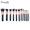 12 pieces Make Up Foundation Eyebrow Eyeliner Blush Cosmetic Concealer Brushes