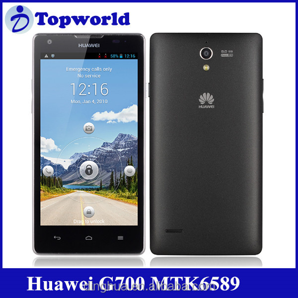 "Original!!Huawei Ascend G700 Quad-core MTK6589 1.2G 2G RAM+ 8G ROM 5""HD screen"