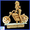 Best Selling Resin Sexy Nude cartoon Girl On Motorcycle sculpture