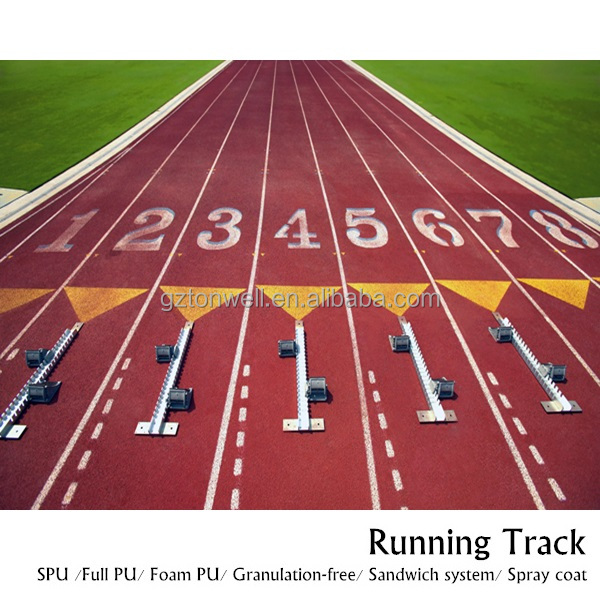 FPU sports field synthetic rubber running track