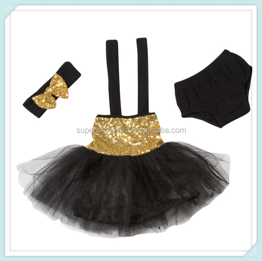 Hot Fashion New Design Kids Sequin Dress Kids Casual Tutu Glitter Dresses Baby Girls Bridal Dresses Bloomers Set