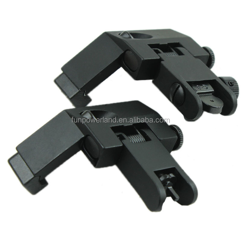 Funpowerland Front and Rear flip up 45 Degree Rapid Transition Backup Iron Sight