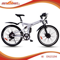 Dual disc brake 6 speed 250W wholesale folding electric bike for sale