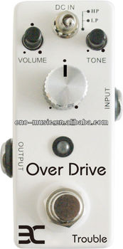 High Profit Margin for EX Branded Guitar Distortion/Over Drive Effect Pedals distributor