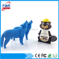 Bulk Sale Customized OEM Wolf USB Flash Drive 8GB 16GB 32GB 64GB for Promo Gifts Made in China