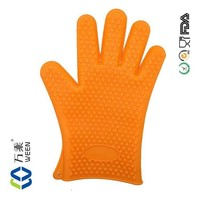 Amazon hot wholesale Heat Insulation silicone oven glove/Silicone Rubber Gloves