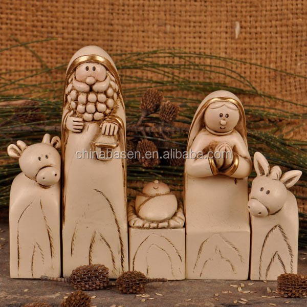 Resin christian sculptures