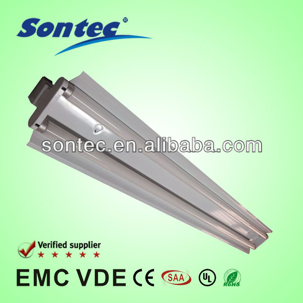 t8 double fluorescent lamp fixture with reflector 1200mm 2X36W