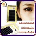 Milkyway hot sell all size J B C D curl handmade thick 100% real mink individual mink eyelash extensions