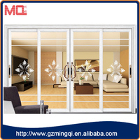 four panbels aluminum alloy profile sliding doors interior room