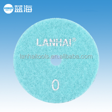 4''-100mm Dry Diamond Grinding Flexible Polishing Pad for Granite Marble Stone