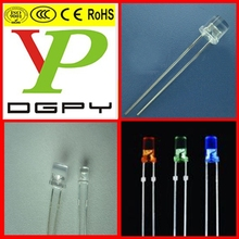 LED 5mm white warm flat top