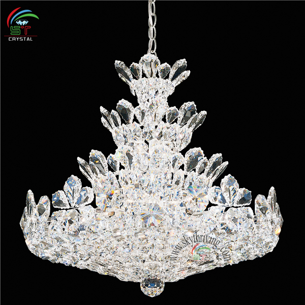 Chrome Crystal Chandelier With Asfour Crystal/ K9 Crystal/ Egypt Crystal