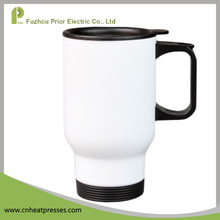 Prior 14oz White Blank Sublimation DIY Stainless Steel Travel Mug For Heat Press