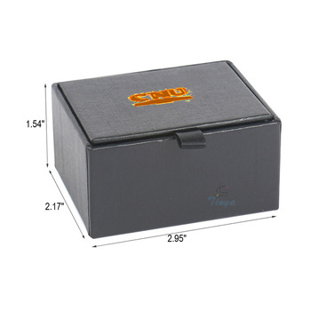 wholesale cardboard small black cufflink gift box