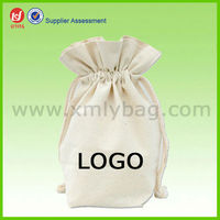 Natural Canvas Drawstring Laundry bag