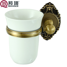 Bathroom accessories single tooth brush cup holder
