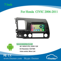 Finenav 2din 7inch Android 4.4 1024x600 Car DVD player for Honda CIVIC 2006-2011 left hand drive with Radio GPS BT MP3 wifi 3g