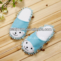 Ultra absorbent chenille floor cleaning slippers cleaning shoes