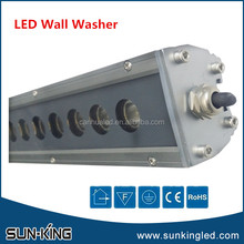 Top quality 3000k 4000k 6000k wallwasher linear bar government building outdoor led 220V wall wash light 24W 24Watts