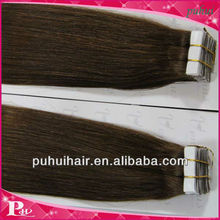 Skin weft tape hair extensions 4*1cm double side on alibaba express