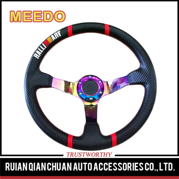Guaranteed quality proper price 75mm depth dish racing steering wheels