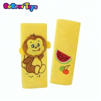 BobearToys soft safety seat belt cushion monkey stuffed safety belt protect shoulder pad seat belt pillow for kids