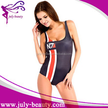 2016 New Fashion black Sex Women Printed Swimwear Swimsuit