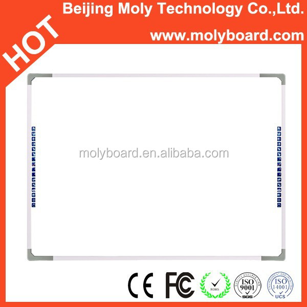Four users writing interactive laser board whiteboard smart board