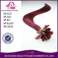 "2014 new arrival AAAA grade double drawn 18""-30"" Pre-bonded keratin nail hair extension"