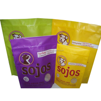 Colorful design for pet shop usage laminated material plastic dog food packaging bag with zipper