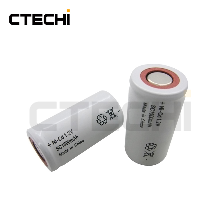 ni-cd sc 1500mah 1.2V rechargeable power tools batteries