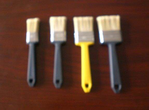 Various types of paint brush