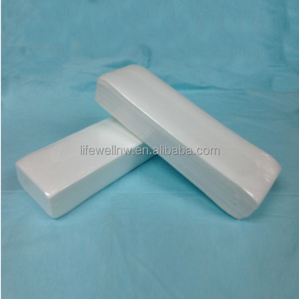 disposable and calendered depilatory wax paper strip for hair removal and epilating