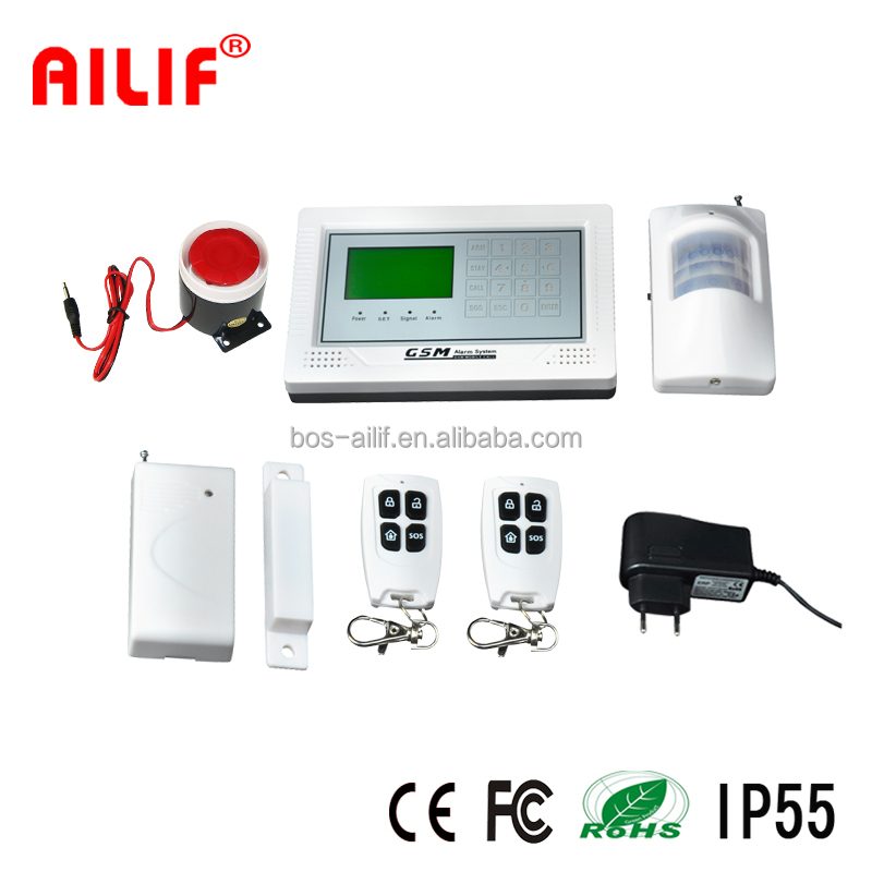 LCD Touch Screen Wireless Home Alarm Sytem ALF-GSM08