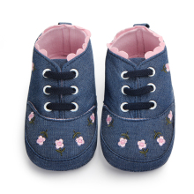 Flower Border Soft Sole Baby Baba Shoes Girls