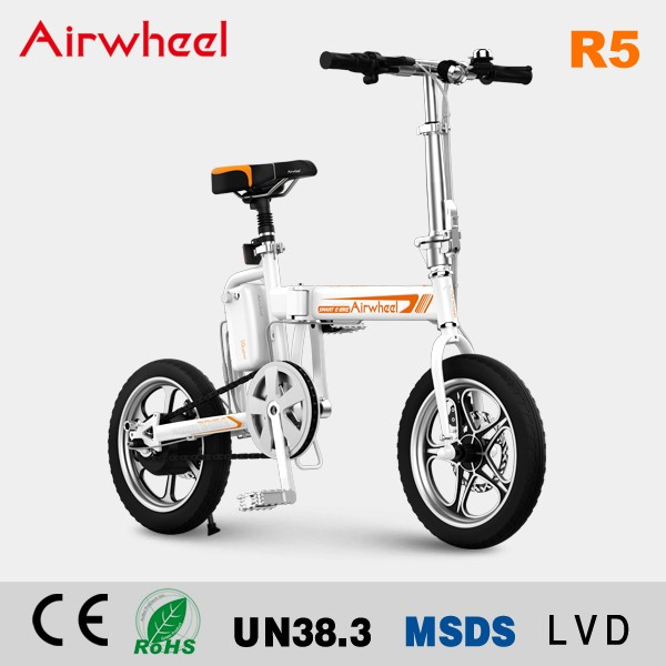 Manufacturer supply Airwheel R5 2 wheels 16inch 250W 40KM distance electric dirt bike folding bicycle