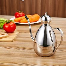 Stainless Steel Olive Oil Vinegar Batcher Can Bottle Pot Kitchen Accessories Cooking Tools Set 500ml Storage Bottles