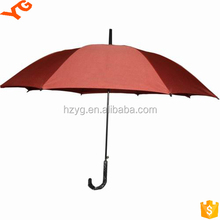 Square Canopy mannual Open Large Good Golf With Fiberglass Shaft Umbrella