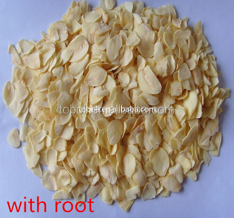 Good quality dried garlic flakes with root/garlic flakes without root