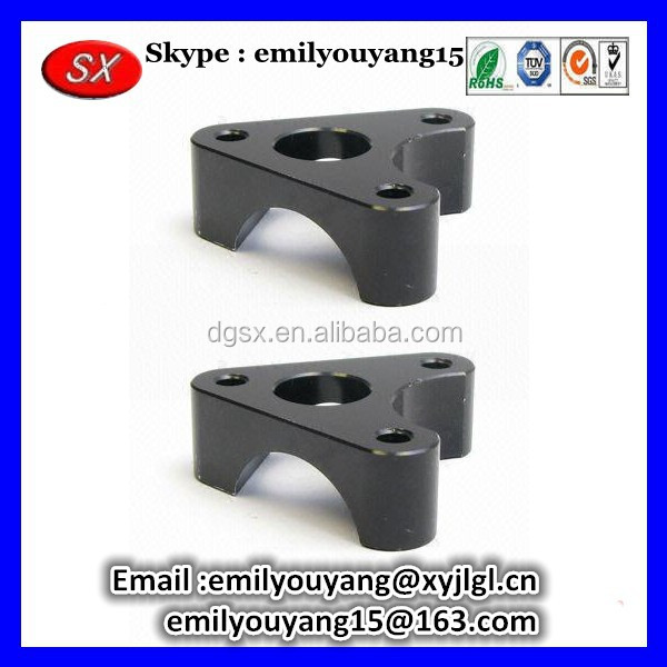 aluminum precision stamping part with black anodized finish suitable for electronic products according to your drawing&samples