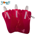 Eco-friendly Portable Flexible Collapsible Reusable Outdoor Sport Foldable Water Bottles BPA Free