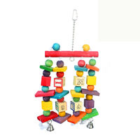 bird toy with wooden accessory for decoration with ball LB029