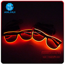 Battery Operated El Wire Led Sunglasses With Color Battery Case