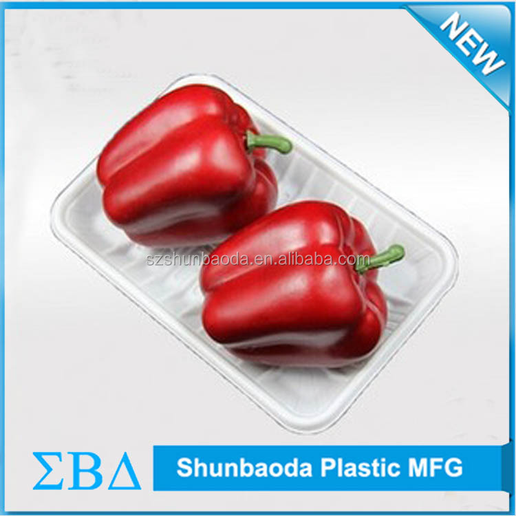 Customized Disposable plastic tomato tray/food tray/The disposable fruit tray