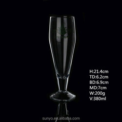 Wholesale transparent crystal beer glass cover