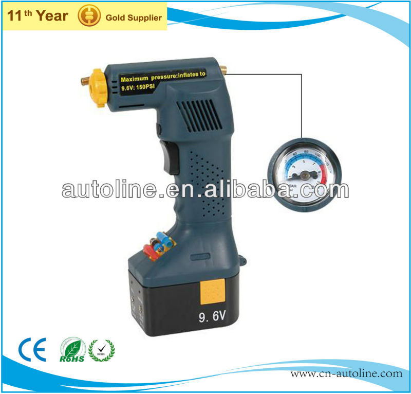 Hot sale 120psi 12v cordless car hand held air compressor
