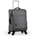 gray elegant 4 wheels trolley bag suitcase for travel