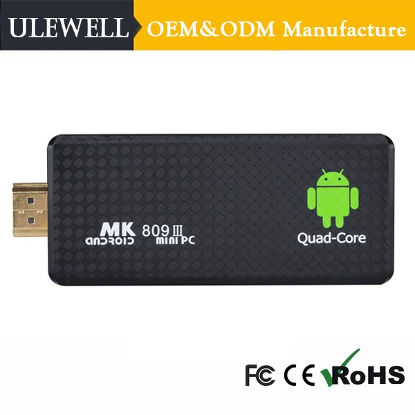 Ulewell MK809III MK809IV 4K Quad Core USB 2Gb 8Gb 3D Miracast Kodi Smart Tv Dongle Android 5.1 Fire Tv Stick